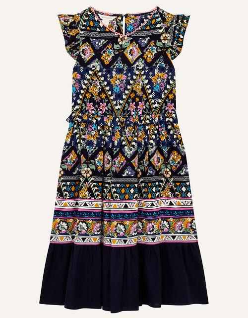 MINI ME Pablo Printed Dress, Blue (BLUE), large