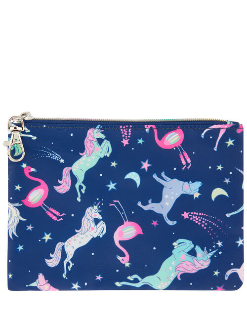 Electric Unicorn Face Mask Pouch Bag, , large