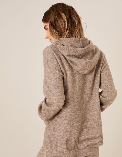 LOUNGE Knit Pocket Hoody, Camel (OATMEAL), large
