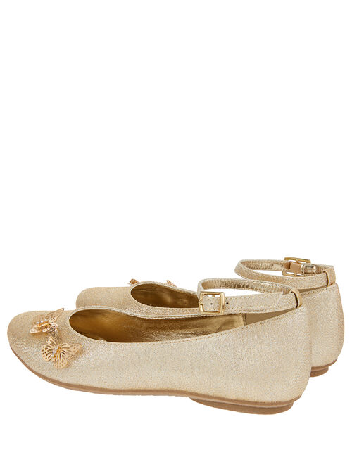 Simone Butterfly Shimmer Ballet Flats, Gold (GOLD), large