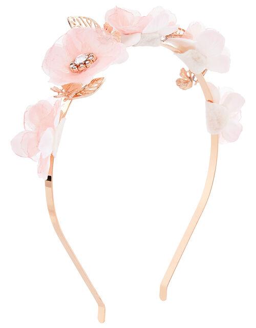 Flora Wavy Metal Headband, , large