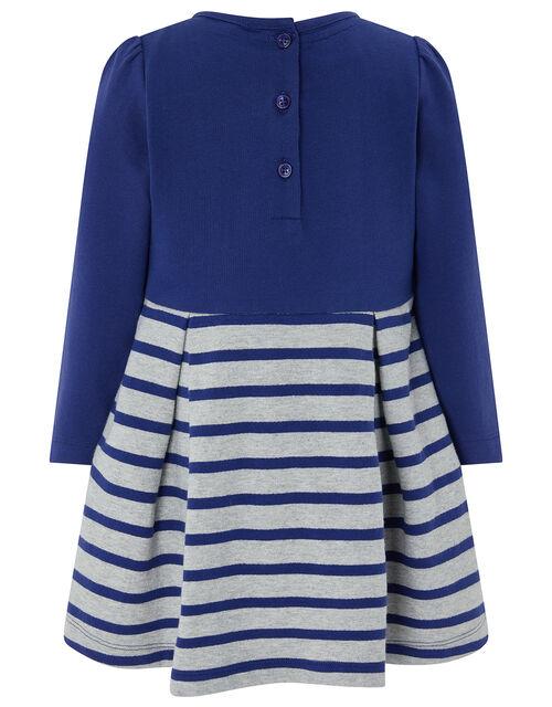Baby Elis Bunny Sweat Dress, Blue (NAVY), large