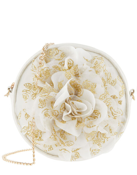 Glitter Flower Round Bag, , large