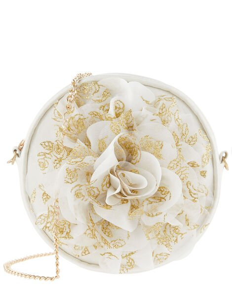 Glitter Flower Round Bag, , large
