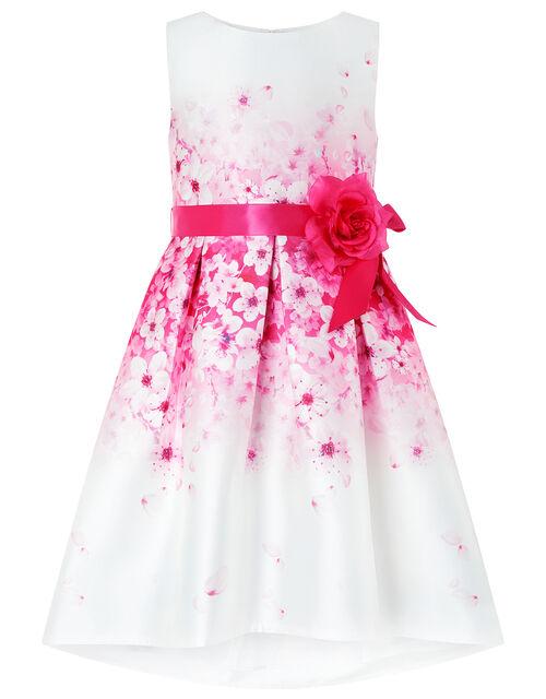 Sakura Blossom Ivory Floral Dress, Ivory (IVORY), large
