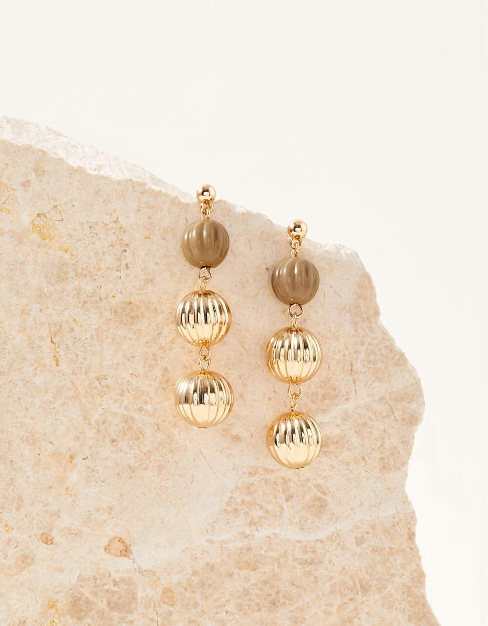 Tiered Ball Earrings, , large