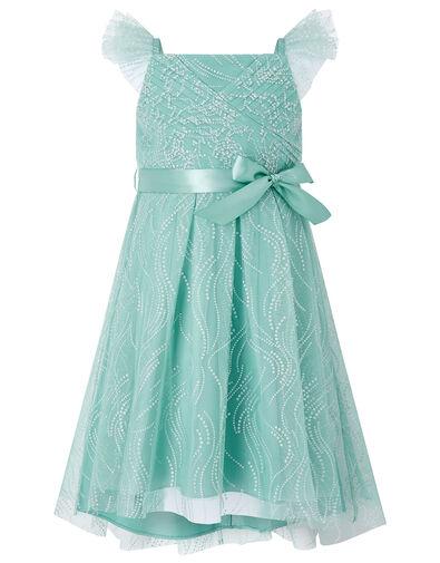 Araminta Glitter Dress Teal, Teal (TEAL), large