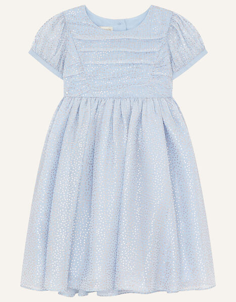 Baby Foil Print Dress Blue, Blue (BLUE), large