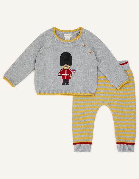 Newborn London Guard Knit Set Grey, Grey (GREY), large