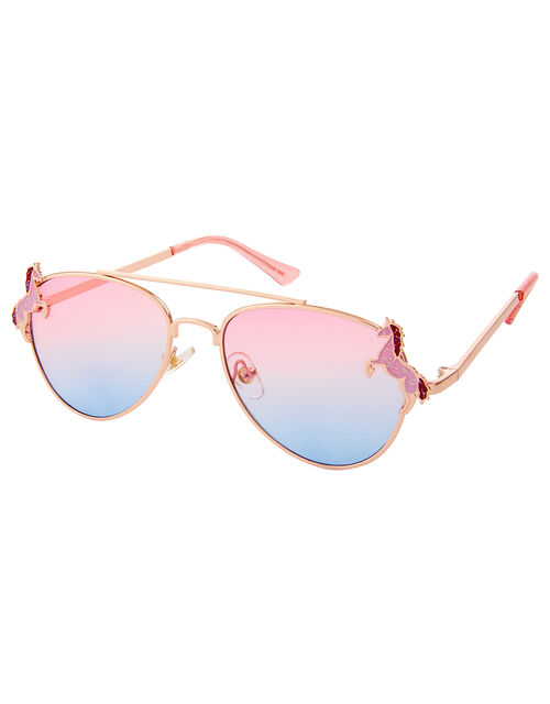 Elle Unicorn Aviator Sunglasses, , large