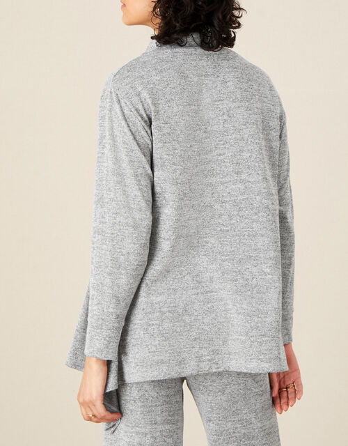 LOUNGE Marl Jersey Jumper, Grey (GREY), large