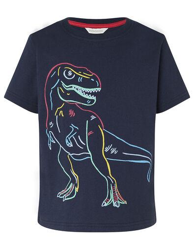 Dinosaur T-Shirt Blue, Blue (NAVY), large