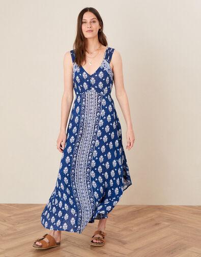 Evy Patch Print Dress Blue, Blue (NAVY), large
