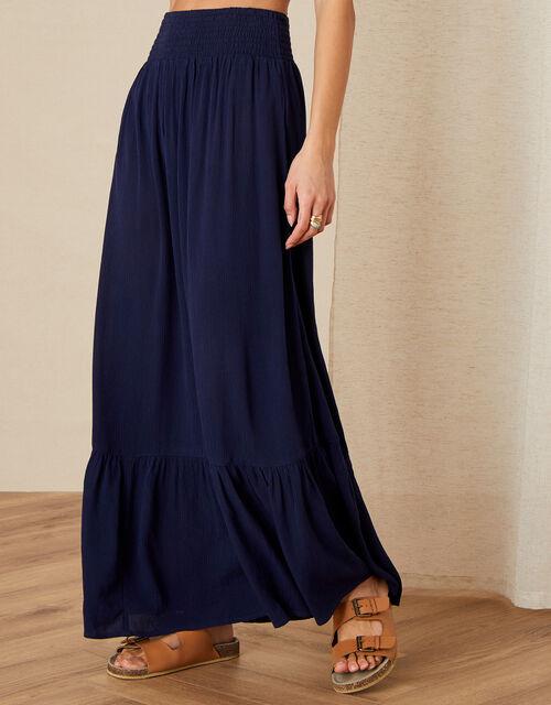 Maxi Beach Skirt, Blue (NAVY), large