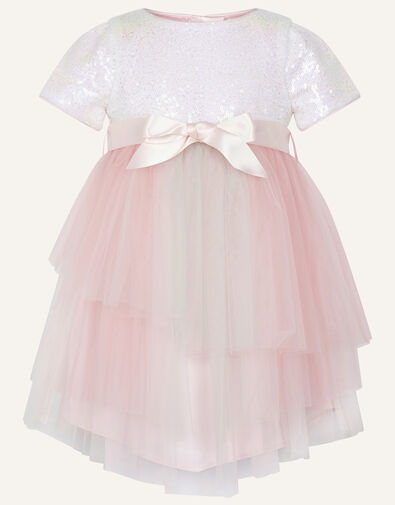 Baby Prairie Sequin Rainbow Dress Pink, Pink (PINK), large