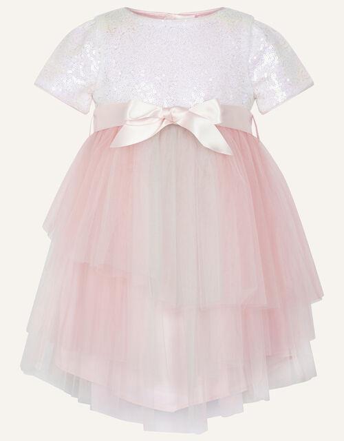 Baby Prairie Sequin Rainbow Dress, Pink (PINK), large