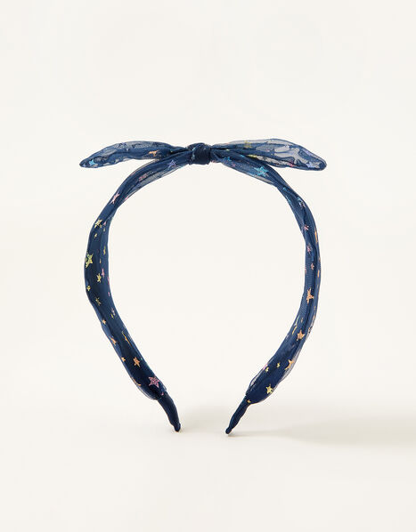 Rainbow Star Knot Headband, , large