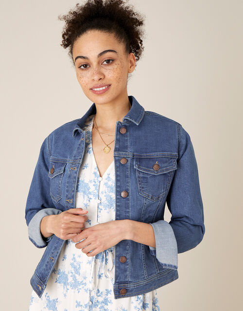 Denim Jacket with Organic Cotton , Blue (DENIM BLUE), large