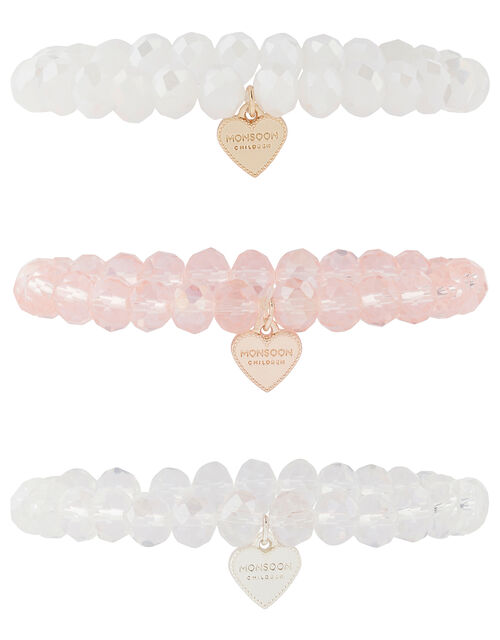 Faceted Bead and Charm Bracelet Set, , large