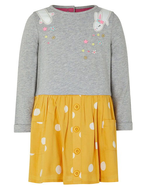 Baby Becca 2-in-1 Bunny Dress, Yellow (MUSTARD), large