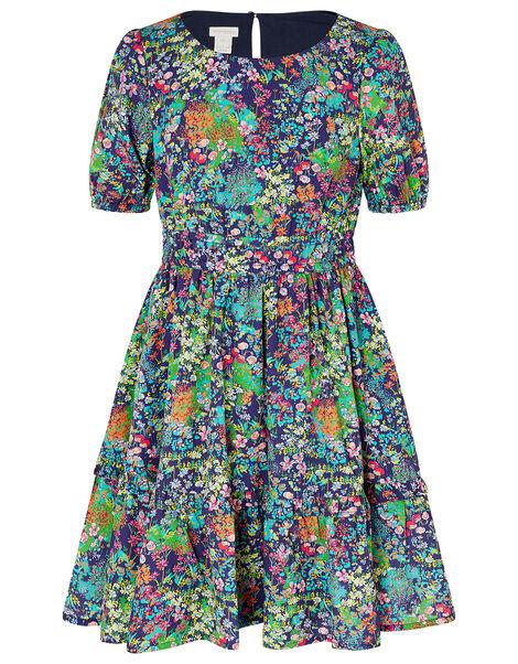 Wild Flower Dress Blue, Blue (NAVY), large