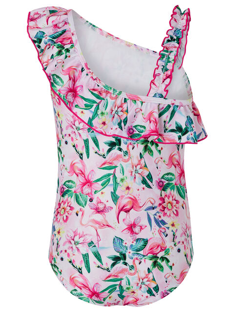 Floella Flamingo Floral Swimsuit with Recycled Polyester, Pink (PALE PINK), large