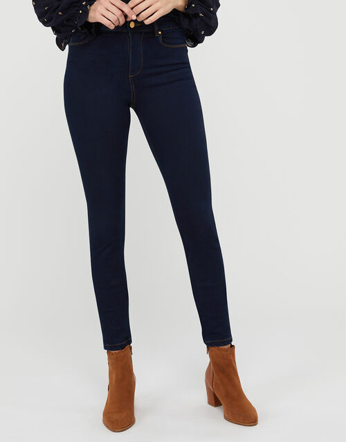 Nadine Dark Rinse Skinny Jeans with Organic Cotton, Blue (INDIGO), large