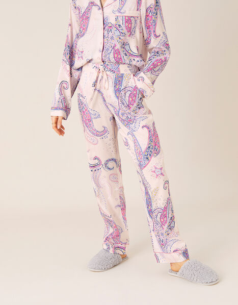 Paisley Print Pyjama Bottoms Pink, Pink (PINK), large