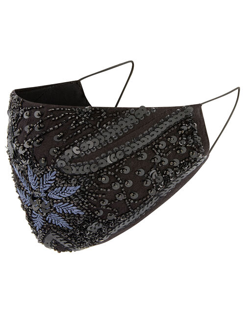 Bead and Sequin Embellished Face Mask, , large