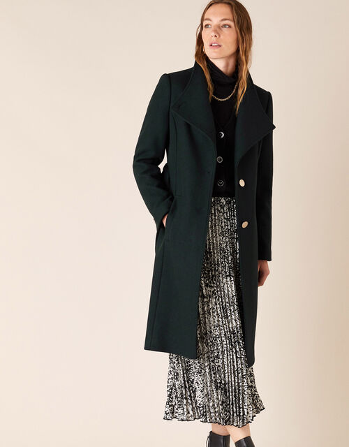 Ruby Long Coat, Green (GREEN), large