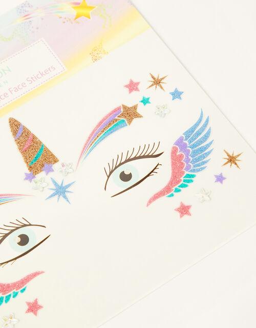 Rainbow Sky Dance Face Stickers, , large