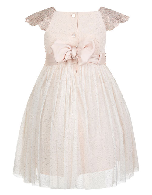 Baby Estella Lace and Sparkle Dress, Pink (PINK), large