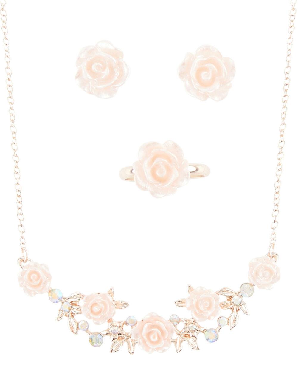 Diane Sparkle Rose Jewellery Set, , large