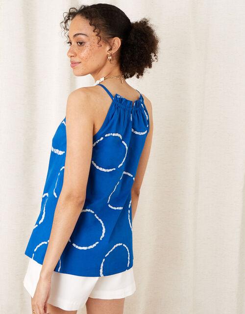 Tie-Dye Poplin Cami , Blue (BLUE), large