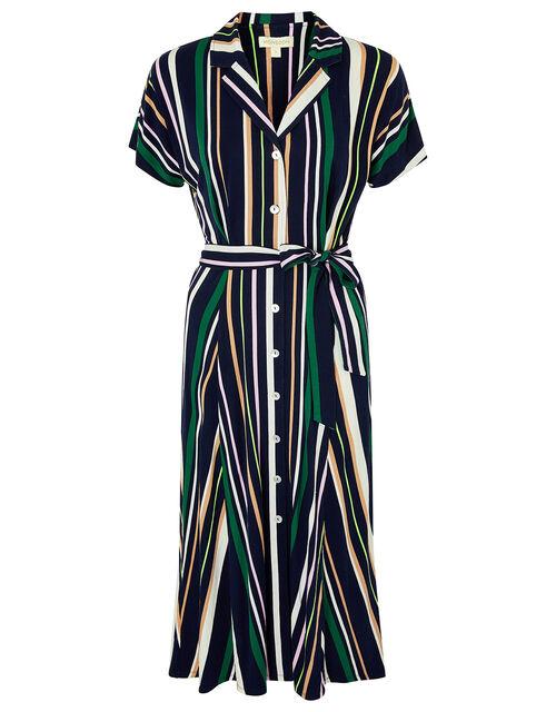 Stripe Shirt Dress with LENZING™ ECOVERO™ , Blue (NAVY), large