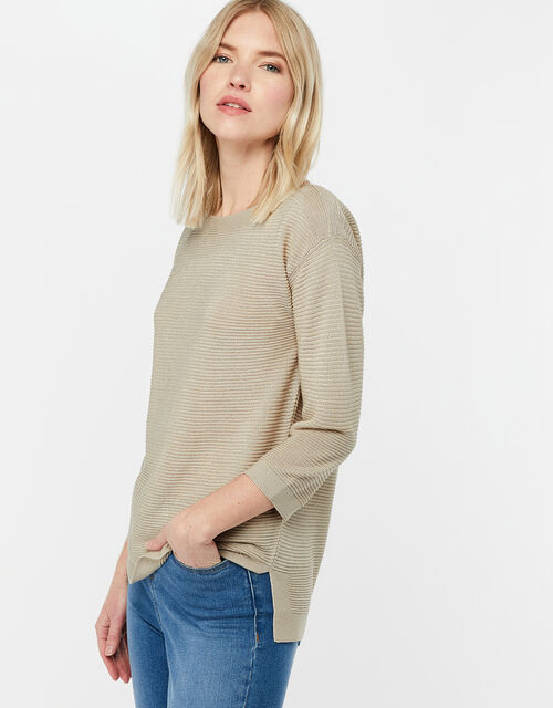 Olivia Ottoman Stitch Jumper, Gold (GOLD), large