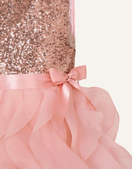 Cancan Sequin Ruffle Dress , Pink (PINK), large
