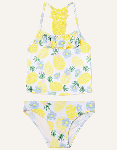Pineapple Crochet Tankini Set Yellow, Yellow (YELLOW), large