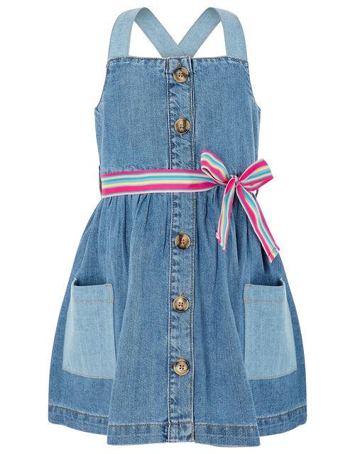 Daisy Denim Dress, Blue (BLUE), large