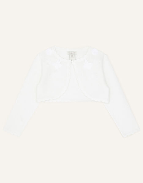 Baby Flower and Butterfly Cardigan Ivory, Ivory (IVORY), large