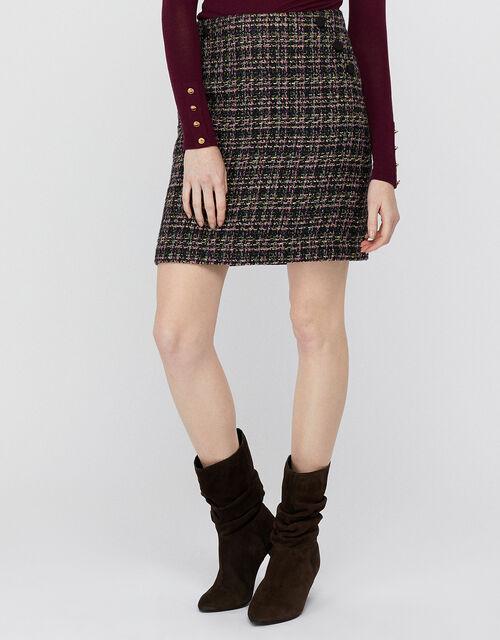 Felissa Tweed Mini Skirt, Purple (PURPLE), large