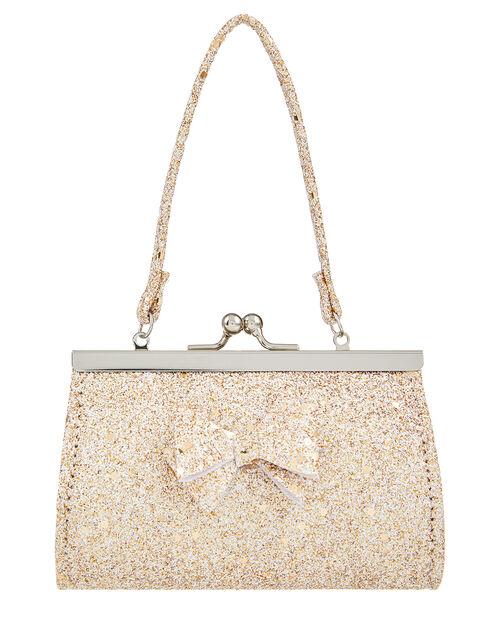Giselle Glitter Bow Mini Bag, , large