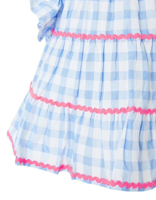 Gingham Woven Top, Blue (BLUE), large
