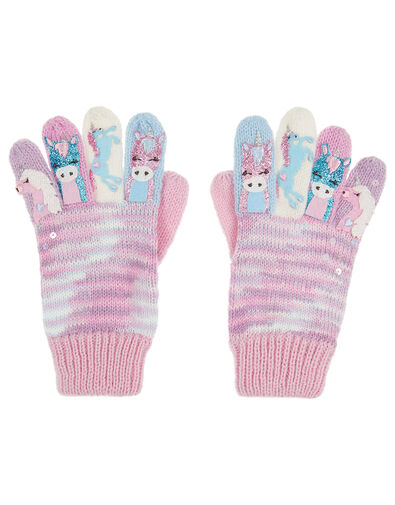Magical Unicorn Knit Gloves Multi, Multi (MULTI), large