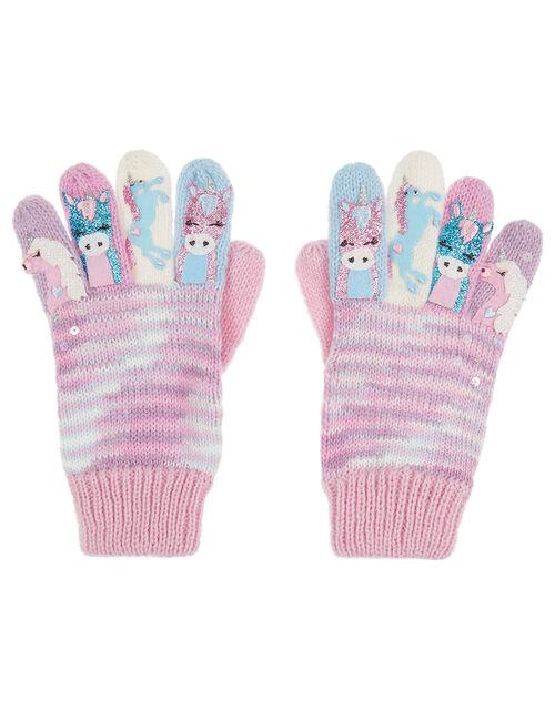 Magical Unicorn Knit Gloves, Multi (MULTI), large