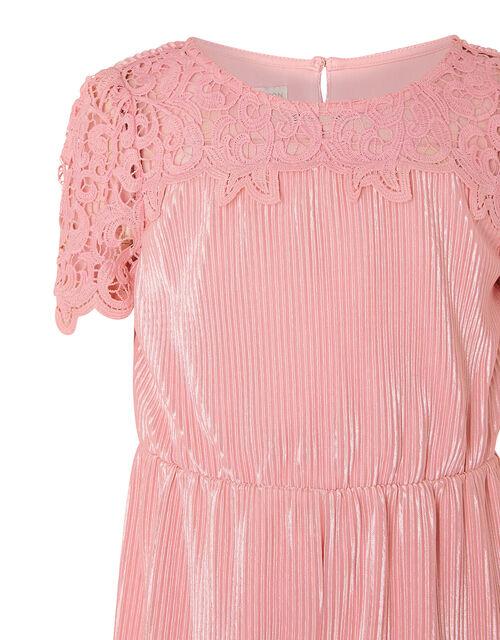 Lace Yoke Plisse Jumsuit, Pink (PINK), large