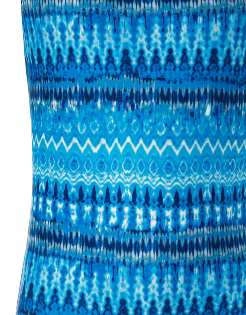 Cypress Tie Dye Swimsuit with Recycled Polyester, Blue (BLUE), large