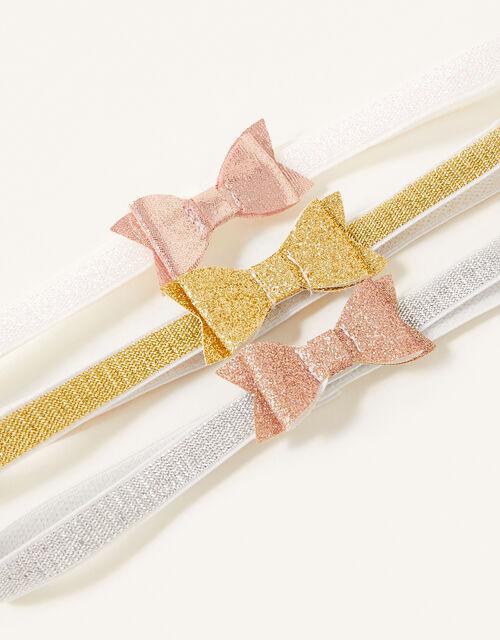 Baby Glitter Bow Bando Set, , large