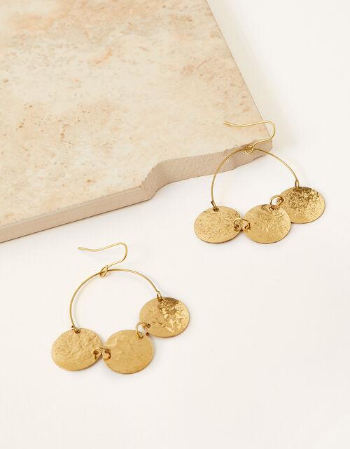 Chloe Coin Hoop Earrings , , large