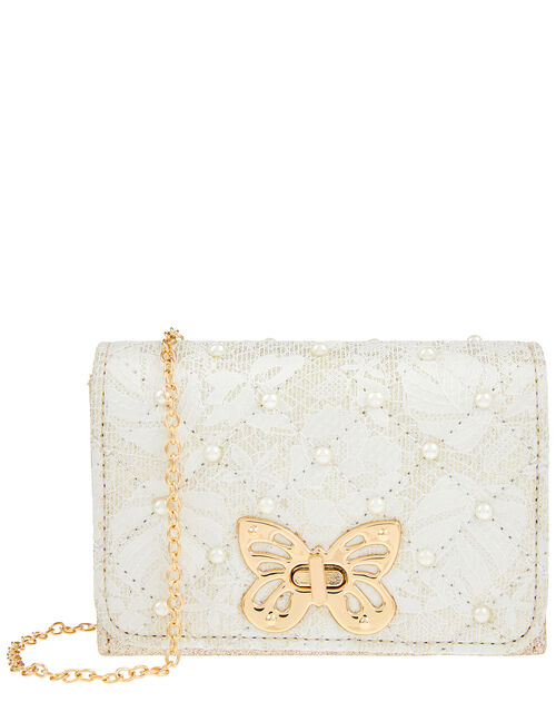 Butterfly and Pearl Shoulder Bag, , large